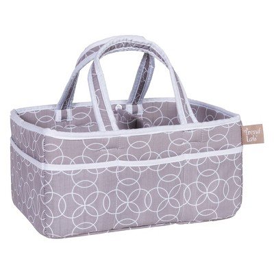 Trend Lab Diaper Storage Caddy - Gray Circles