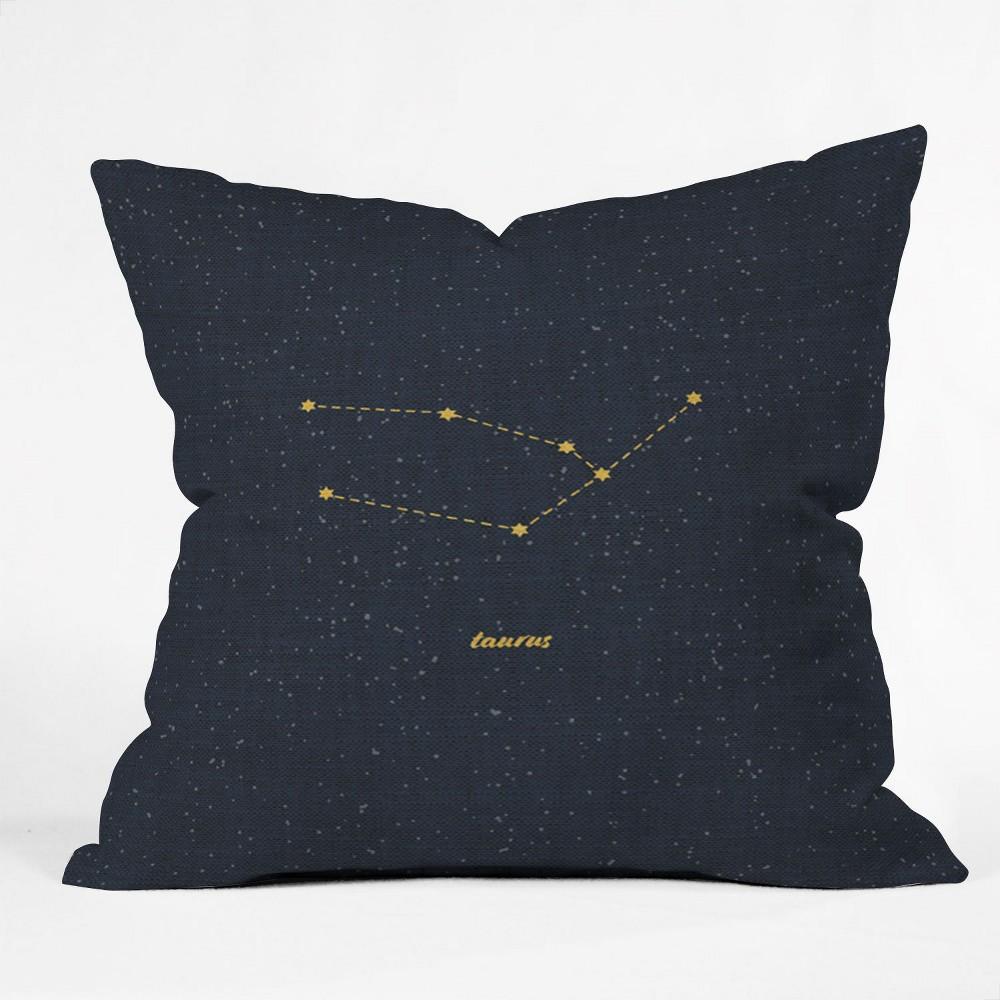 Holli Zollinger Constellation Taurus Square Throw Pillow Blue - Deny Designs