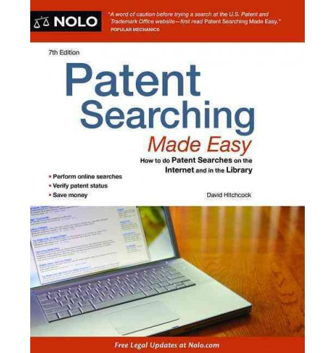 Patent Searching Made Easy : How to Do Patent Searches Online and in The library - image 1 of 1