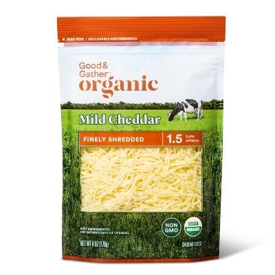 Organic Finely Shredded Mild Cheddar Cheese - 6oz - Good & Gather™