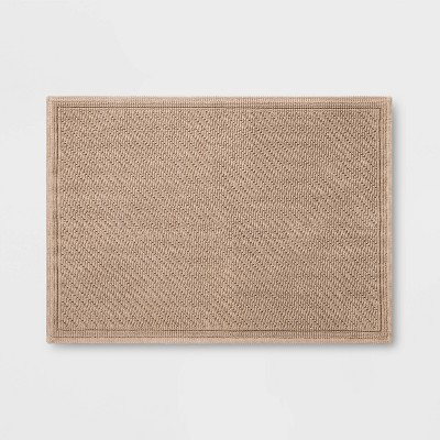 "30""x21"" Performance Solid Bath Mat Tan - Threshold™"