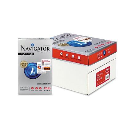 Navigator Platinum Paper 99 Brightness 20lb 8-1/2 x 14 White 5000/Carton NPL1420