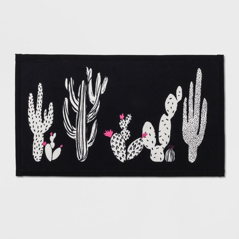 """34""""x20"""" Cactus Rug Black/White - Room Essentials™ - image 1 of 2"""