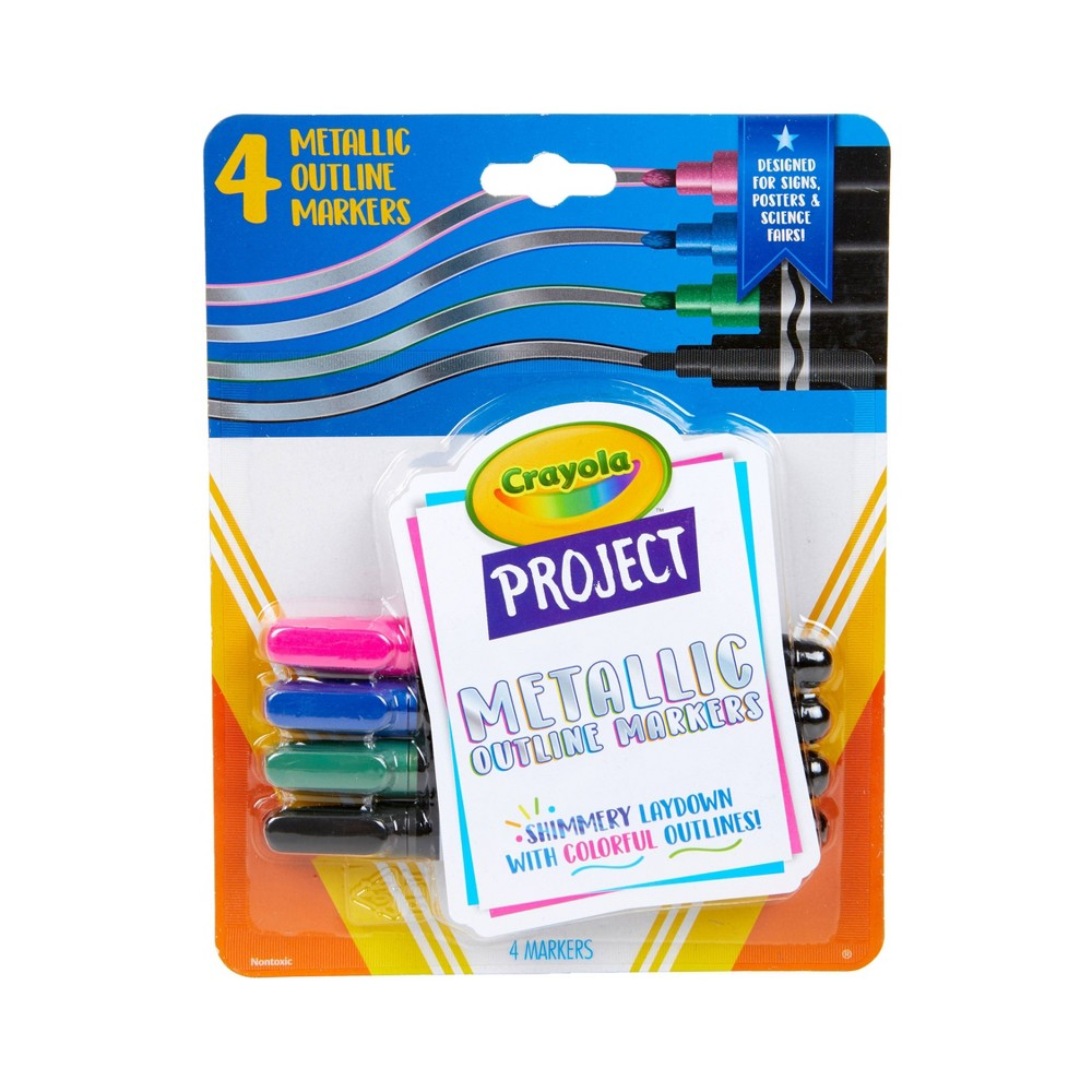 4ct Crayola Project Outline Markers - Metallic Colors