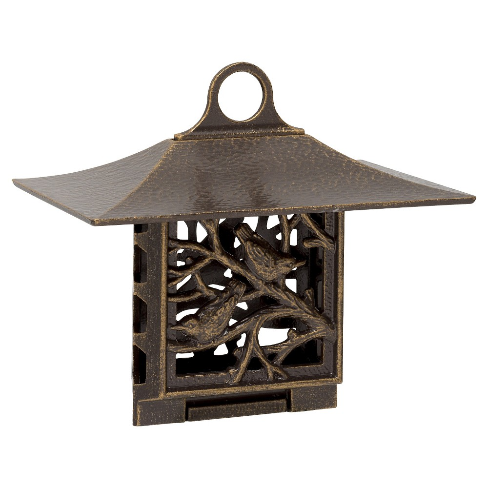 "Image of ""6.75"""" Nuthatch Suet Feeder - French Bronze - Whitehall Products, Brown"""