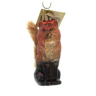 "Old World Christmas 4.0"" Vintage Fox Woodland Rustic  -  Tree Ornaments"