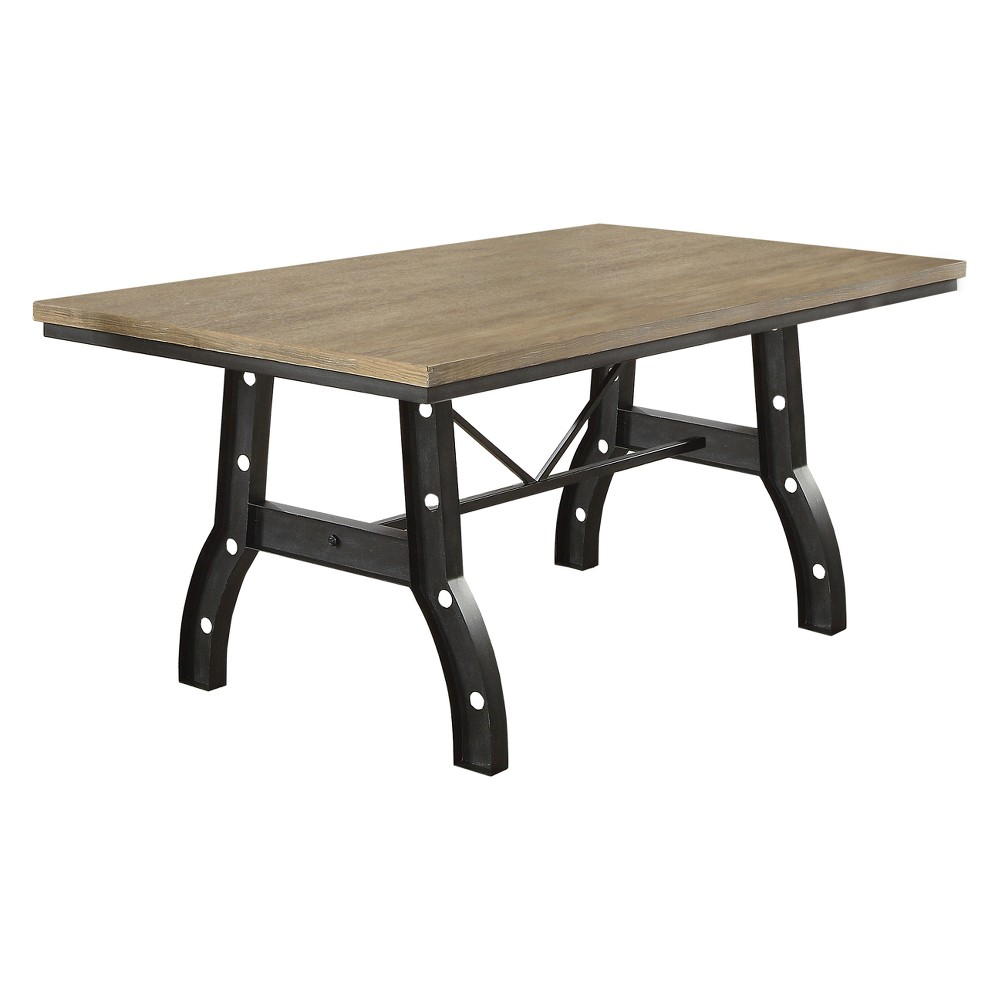 Iohomes Gillock Industrial Two Toned Dining Table Rustic Oak - Homes: Inside + Out