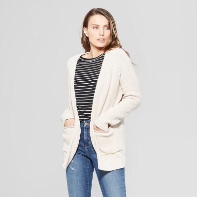 Women's Long Sleeve Cardigan Open Layering - Universal Thread™ Blush M