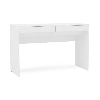 Preston 2 Drawer Writing Desk White - Chique