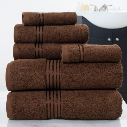Solid Bath Towels And Washcloths 6pc - Yorkshire Home - image 1 of 4