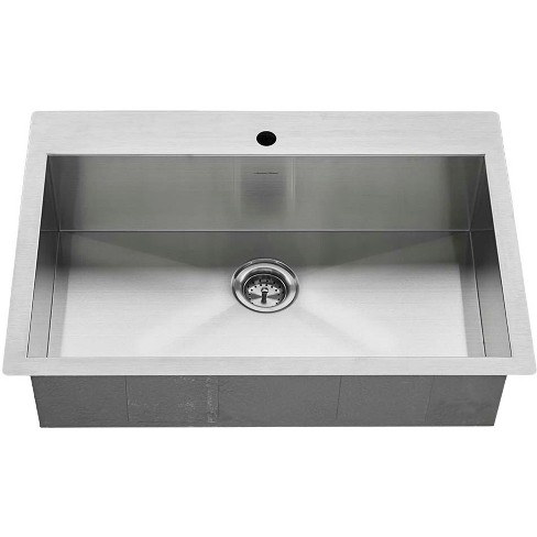 """American Standard 18SB.9332211 Edgewater 33"""" Single Basin Stainless Steel Kitchen Sink for Drop In or Undermount Installations - image 1 of 4"""