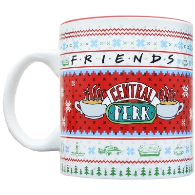 Silver Buffalo Friends Central Perk Holiday Sweater 20 Ounce Ceramic Mug