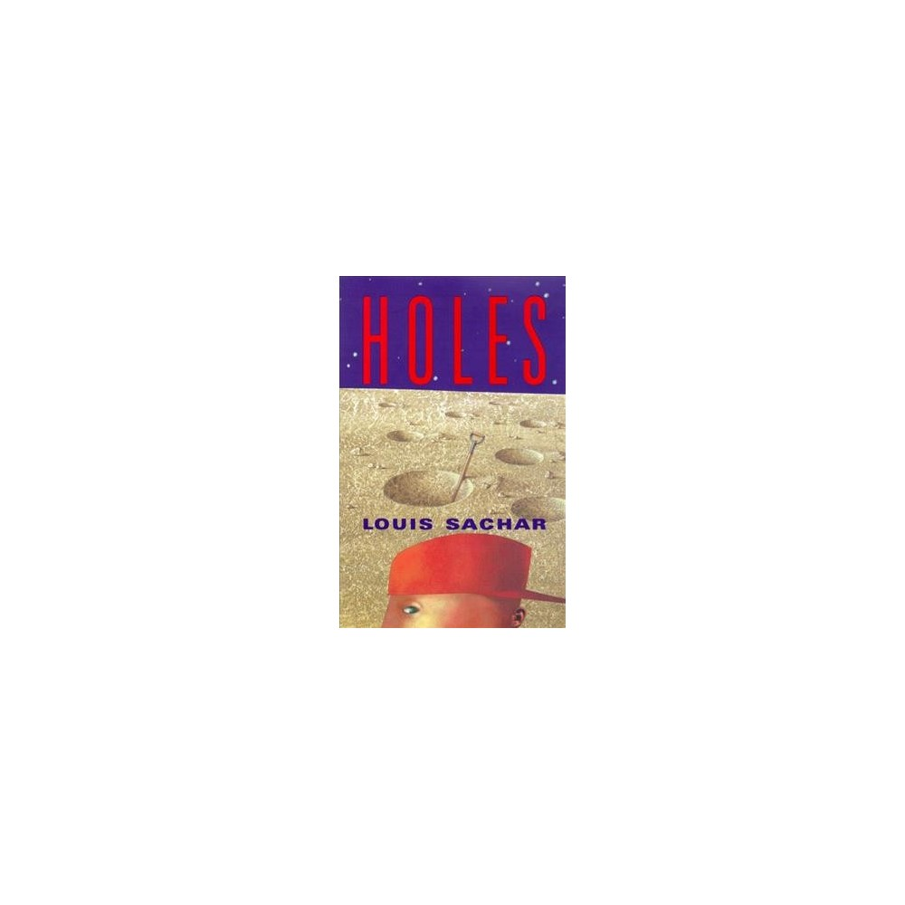 Holes - Large Print by Louis Sachar (Hardcover)