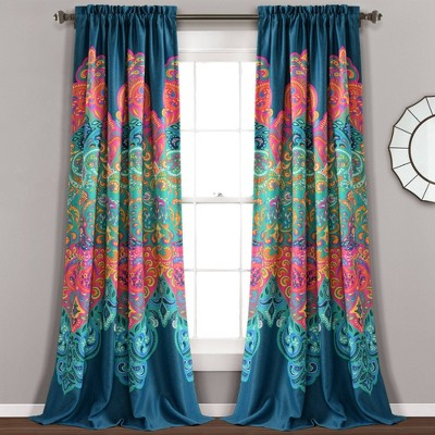 Boho Chic Room Darkening Window Curtain Panels - Lush Décor