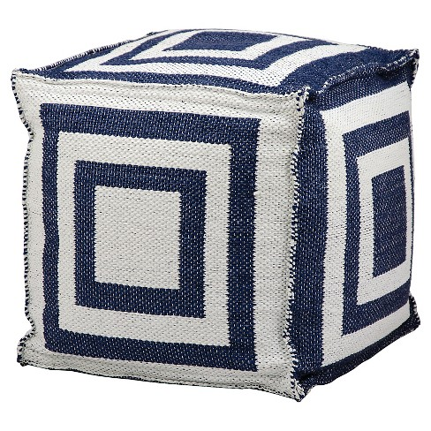Simple Stripe Indoor/Outdoor Throw Pouf - Nourison - image 1 of 1
