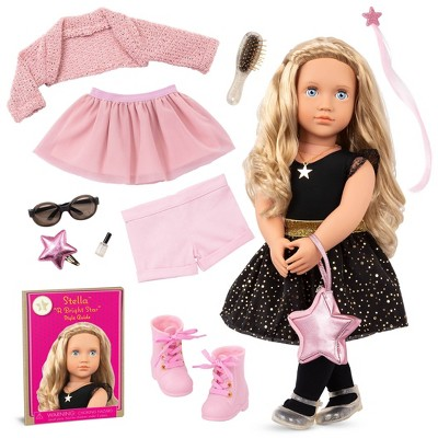 """Our Generation Fashion Starter Kit in Gift Box Stella with Mix & Match Outfits & Accessories 18"""" Fashion Doll"""