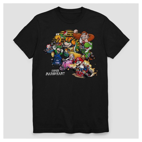 Men's Nintendo Short Sleeve Mario Kart T-Shirt - Black - image 1 of 1