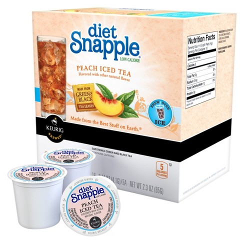Diet Snapple® Low Calorie Peach Iced Tea - K-Cup Pods - 16ct - image 1 of 2