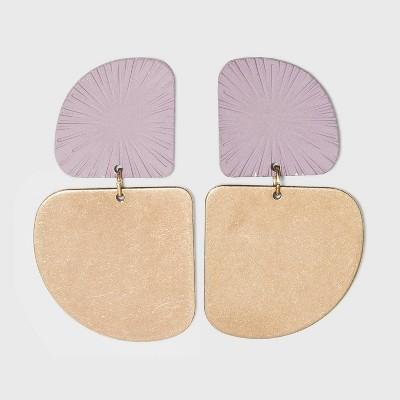Sprayed Raised Patterned Geometric Drop Earrings - Universal Thread™
