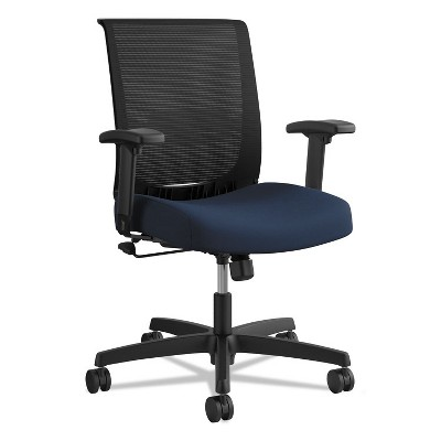 HON® Mid-Back Task Chair with Swivel-Tilt Control  Supports up to 275 lbs  Navy Seat Black Back