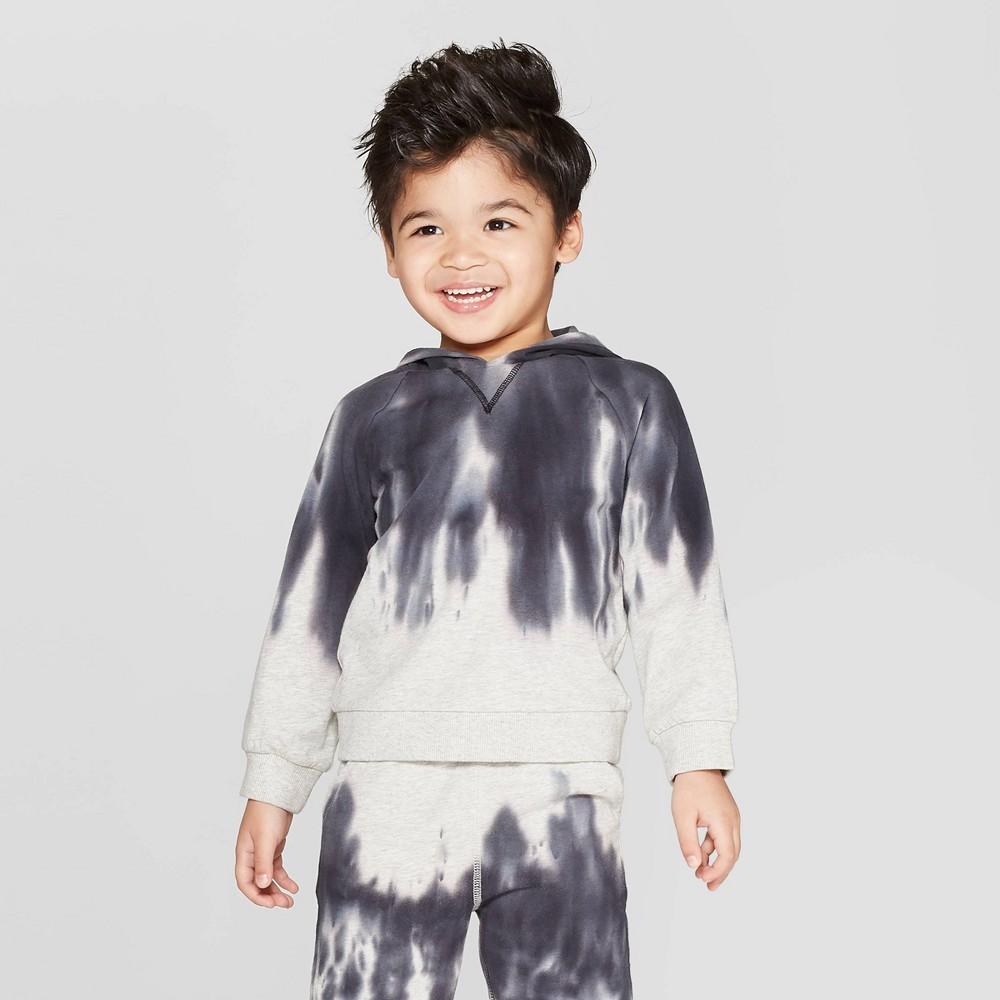 Toddler Boys' Tie Dye Sweatshirt - art class Heather Gray 18M