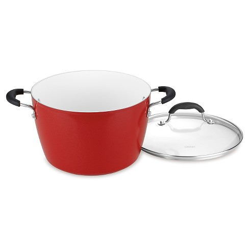 Cuisinart Elements 6qt Red Non Stick Stockpot With Cover 5944 24r Target