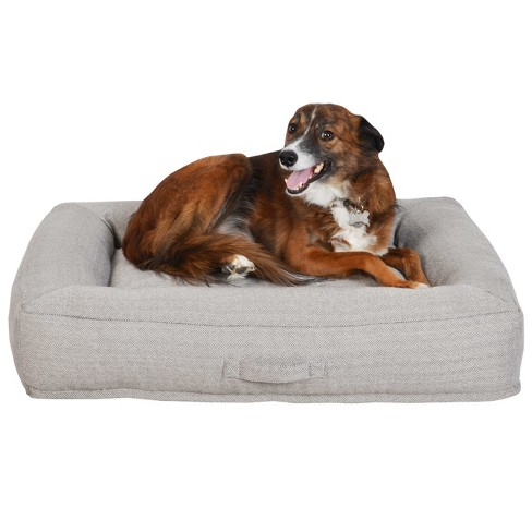 Mattress Cuddler with Handle Dog Bed - Grey - Large - Boots & Barkley™ - image 1 of 2