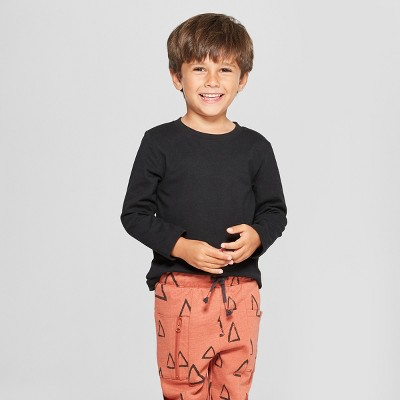 Toddler Boys' Long Sleeve T-Shirt - Cat & Jack™ Black 12M