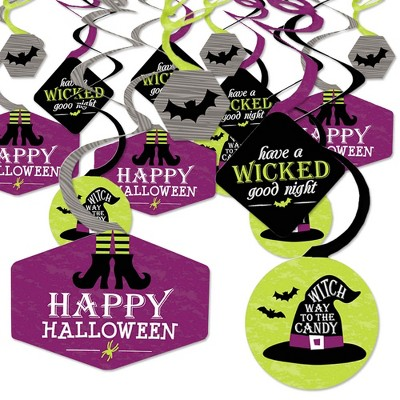 Big Dot of Happiness Happy Halloween - Witch Party Hanging Decor - Party Decoration Swirls - Set of 40