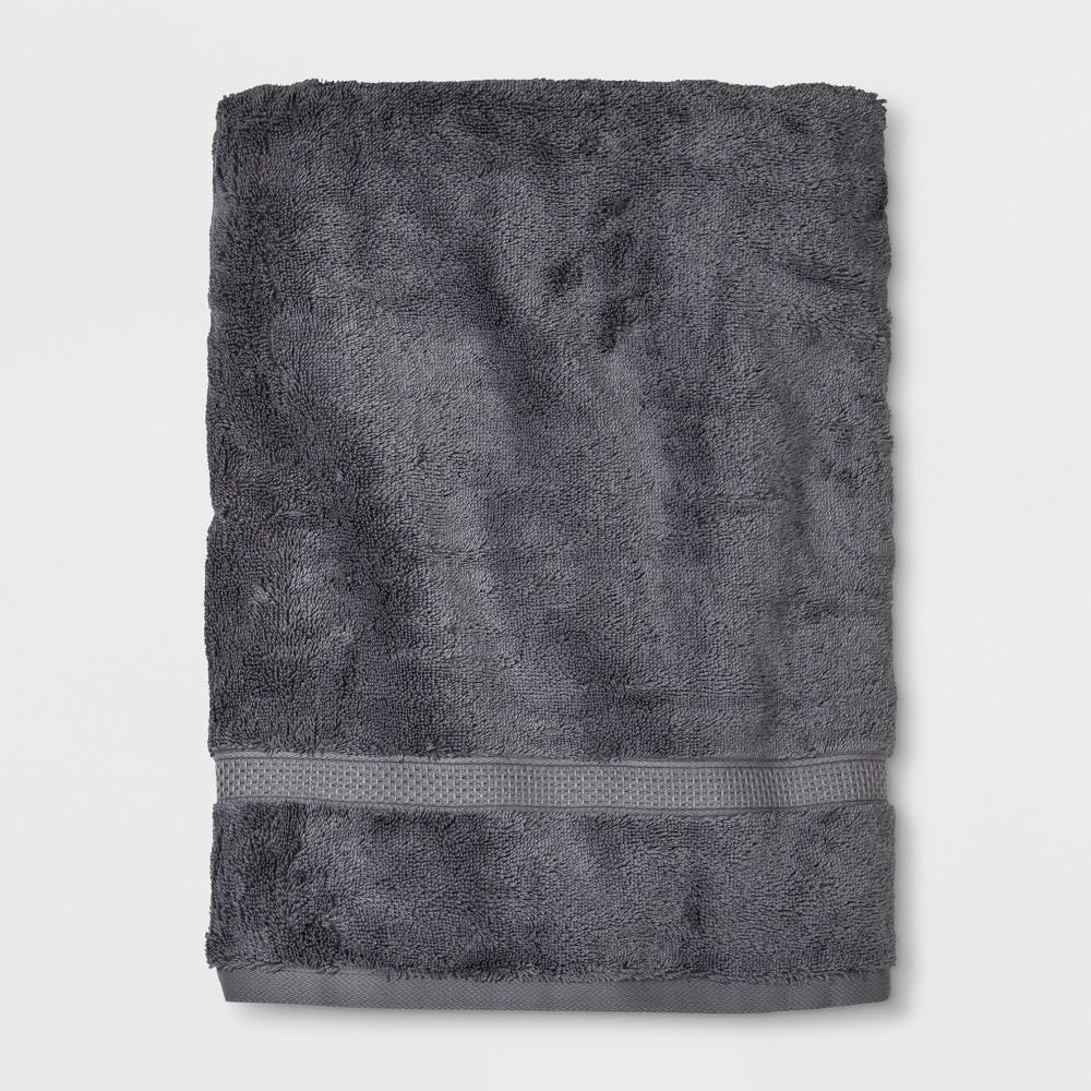 Soft Solid Bath Sheet Dark Gray - Opalhouse