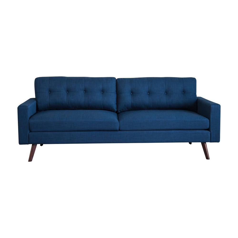 Image of 2pc Devon Mid Century Sofa and Armchair Navy Blue - Abbyson Living, Bright Navy