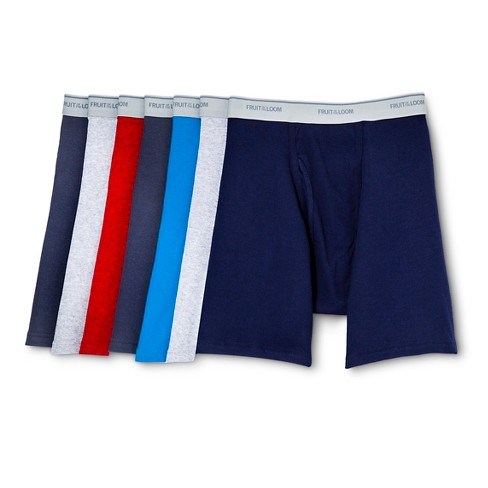 Fruit of the Loom® Men's 5+2pk Boxer Briefs - Navy/Gray/Red - image 1 of 2