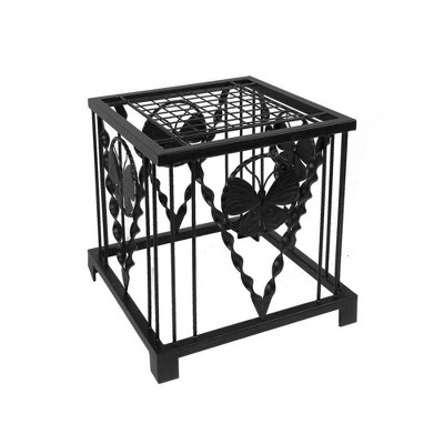 """16"""" Iron Modern Indoor Outdoor Julia Butterfly Plant Stand Black Powder Coat Finish - Achla Designs"""