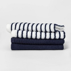 4pk Cotton Striped Dish Cloths - Room Essentials™