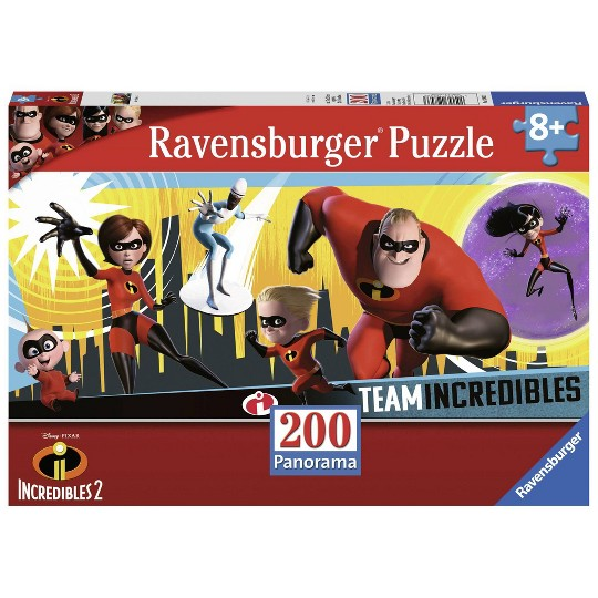 Ravensburger Incredibles 2 Panorama Puzzle 200pc, Kids Unisex image number null