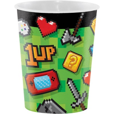 8ct 16oz Video Game Party Favor Cups
