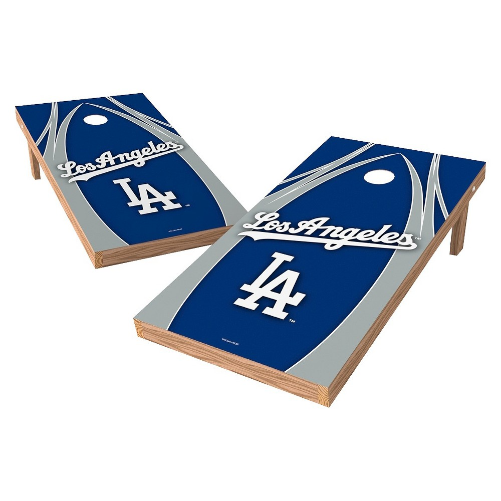 Los Angeles Dodgers Wild Sports XL Shield Logo Cornhole Bag Toss Set - 2x4 ft.