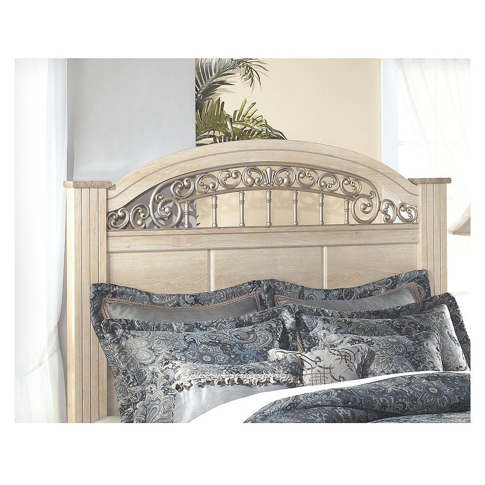 Image of Adult Headboard Eggshell Queen - Signature Design by Ashley, Beige