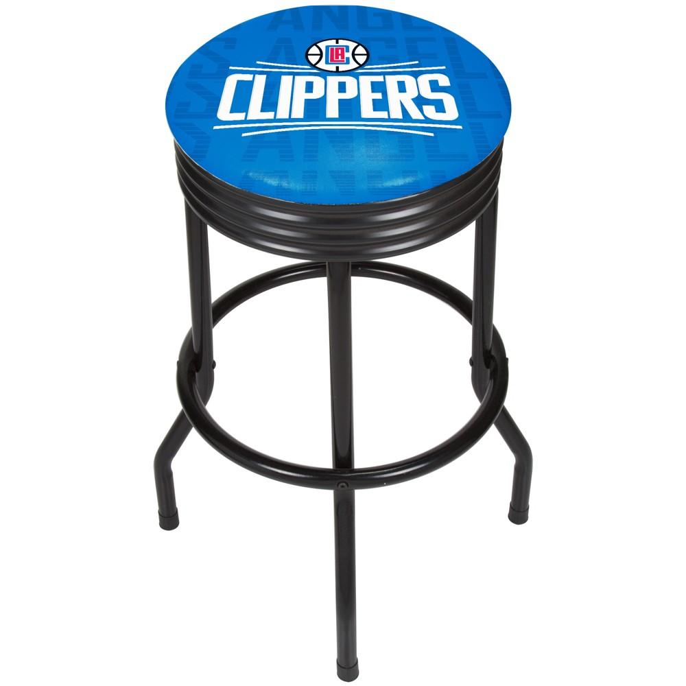 NBA Los Angeles Clippers City Ribbed Bar Stool - Black