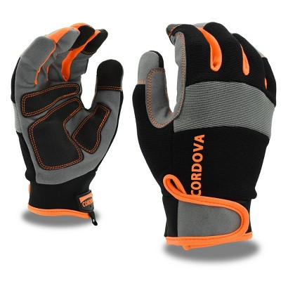 Cordova Safety Products XL Synthetic Leather with Orange Trim and Reinforced Palm