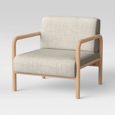 Mosher Low and Wide Accent Chair Cream/Natural Wood - Project 62™
