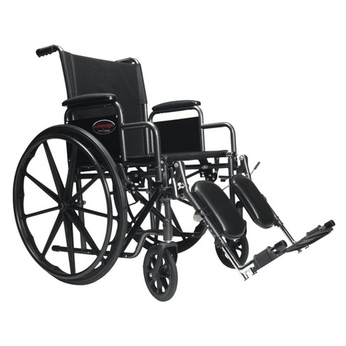 Everest & Jennings Advantage Wheelchair With Desk Arm and Elevating Footrest - Black - image 1 of 1