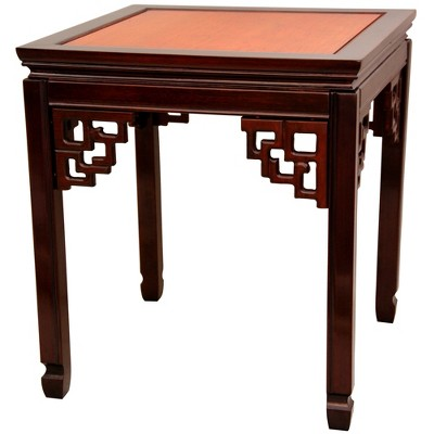 Rosewood Square Ming End Table   Oriental Furniture : Target