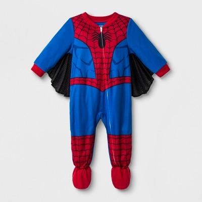 Baby Boys' Spider-Man Blanket Sleeper - Blue 18M