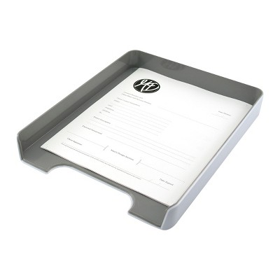 Fusion Letter Tray, White and Gray (37522)