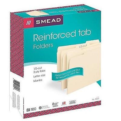 Smead File Folders Reinforced 1/3-Cut Tab Letter Size Manila 649160