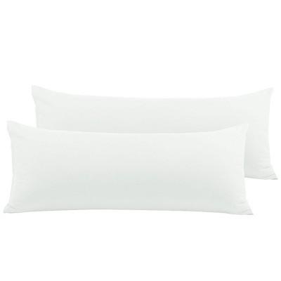 2 Pcs Body Microfiber Zippered Pillowcase Snow White - PiccoCasa