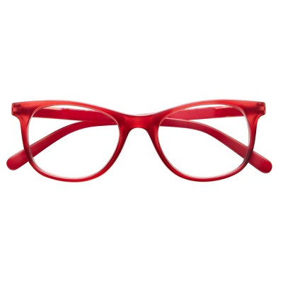 ICU Eyewear Screen Vision Blue Light Filtering Curve Oval Red Glasses