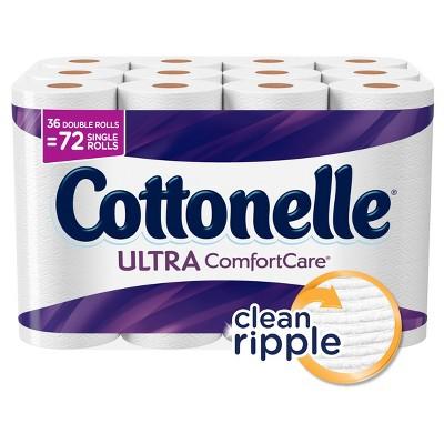 Cottonelle Ultra Comfort Care Toilet Paper - 36 Double Rolls