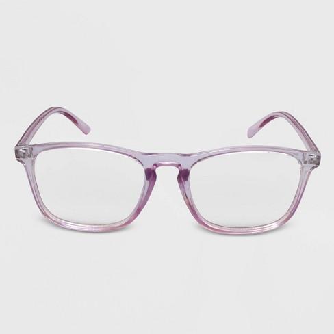 Women's Blue Light Filtering Rectangle Glasses - Wild Fable™ Purple - image 1 of 2
